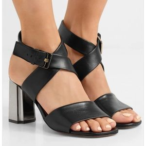 NIB Robert Clergerie Zola Black Sandals Sz 9.5